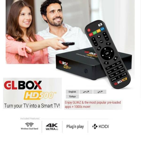 "GL Box HD-500 : IPTV ""UNLIMITED"" Persian(Iran), Afghan"
