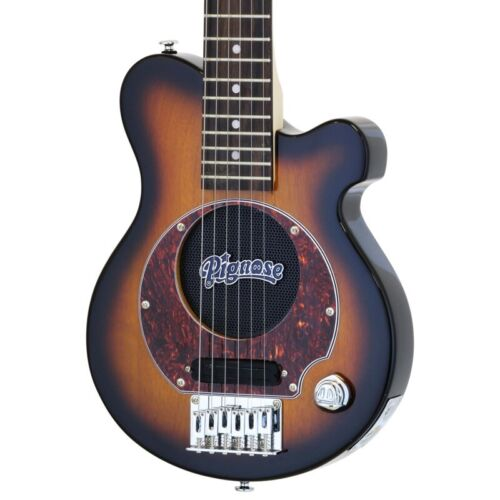 Pignose PGG-200 BS Mini electric guitar built-in amplifier with soft case