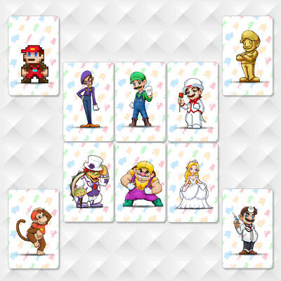 10pcs Set NFC PVC Tag Card Super Mario Odyssey for Nintendo Switch & Screen Film