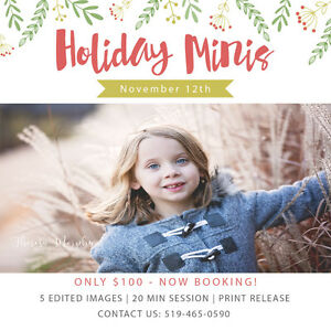 HOLIDAY MINI SESSIONS Kitchener / Waterloo Kitchener Area image 1