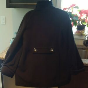 Black Jones New York Pea Coat - Size 8 Kitchener / Waterloo Kitchener Area image 2