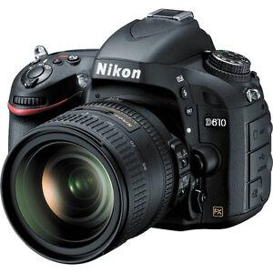 Caméra Nikon D610 avec lentille 24-85 presque neuve