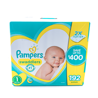 Pampers Swaddlers Size 1 Newborn Disposable Diapers Mega Box
