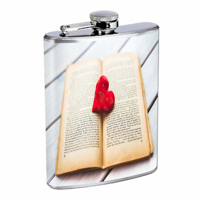 Book Lover Em2 Flask 8oz Stainless Steel Hip Drinking Whiskey](Bible Flask)