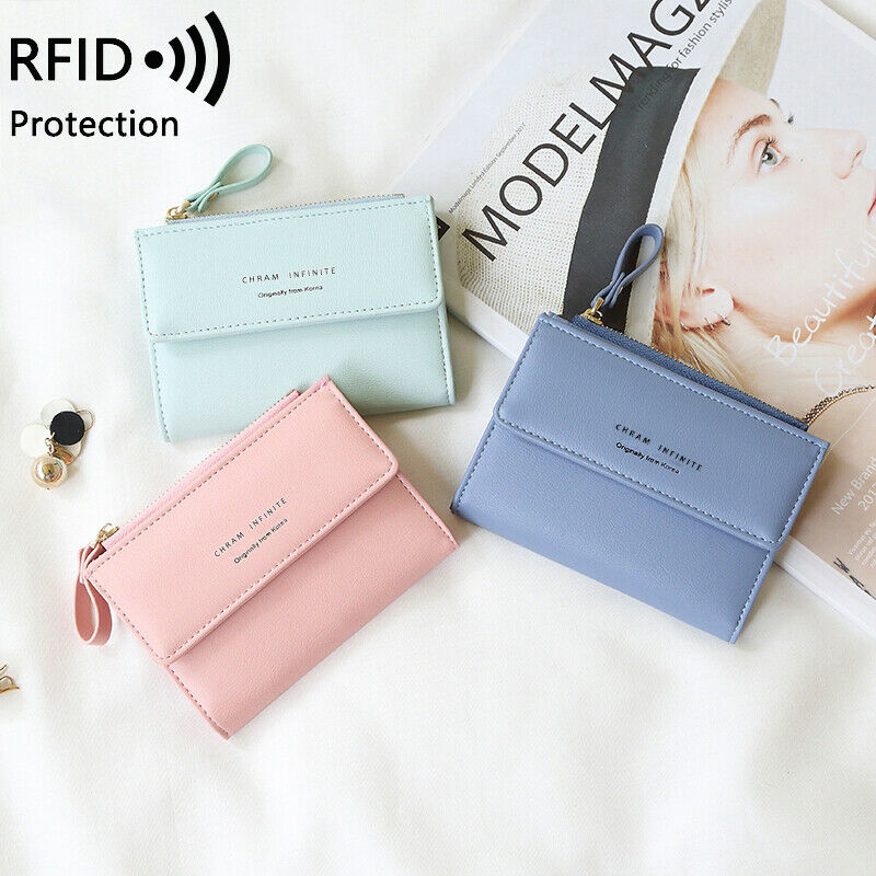 Women Small Leather Wallet RFID Blocking Credit Card Holder Mini Bifold Handbag Clothing, Shoes & Accessories