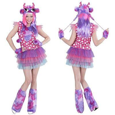 SPACE MONSTER GIRL Damen Kostüm PINK Kuh Clown - Lustige Kostüme Damen
