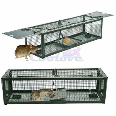 2-Door Mouse Cage Trap For Chipmunk Rats Squirrels Voles Rodent Pest