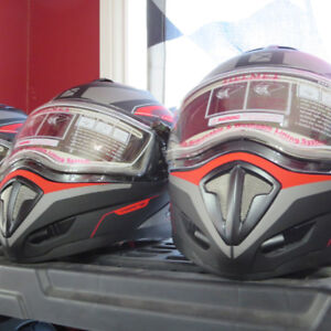 CKX Tranz Modular Snowmobile Helmet Heated Visor RE-GEAR