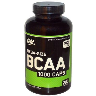 Optimum Nutrition BCAA 1000 CAP Branched Chain Amino Acids 200 Capsules