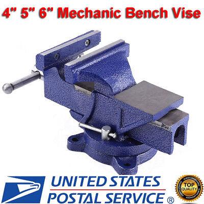 456 Mechanic Bench Vise Table Top Clamp Press Locking Swive Base Heavy Duty