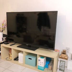 """55"""" Philips tv and Tv Table Only $80"""