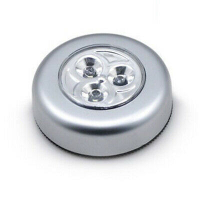 Small 3LED Touch/Tap Cabinet Gate Toilet Car Night Light Battery Powered UK ()