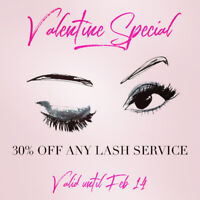Valentine Special 30% off any Lash Service!!