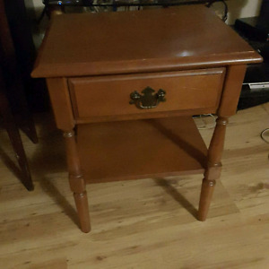 Antique imperial loyalist table with drawer