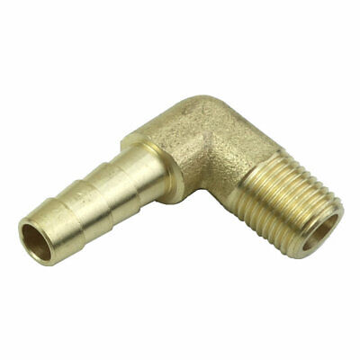 - 3pcs Brass Barbed Male Elbow Fittings Male Pipe Size 1/8