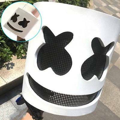 Halloween DJ MarshMello Mask Cosplay Costume Head Helmet For Music Party Props