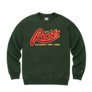 ***XL OVO x ROOTS GREEN CREWNECK***