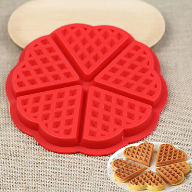 1Pcs Silicone Mini Round Waffles Pan Cake Baking Mould Mold Waffle Tray  R