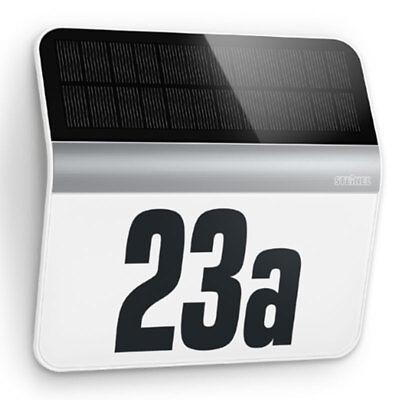 Steinel Solar Ausssenleuchte XSolar LH-N Edelstahl Hausnummernleuchte