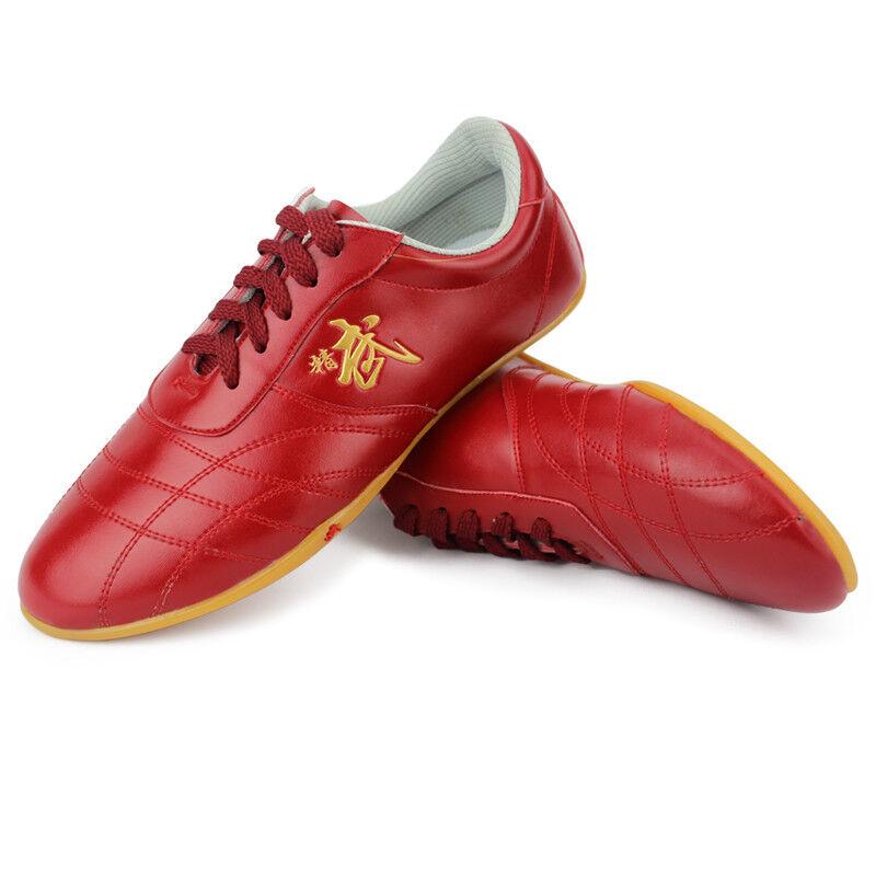 как выглядит Martial Art Karate Taekwondo Shoe Kung Fu Genuine Leather Shoes Tai Chi Training фото