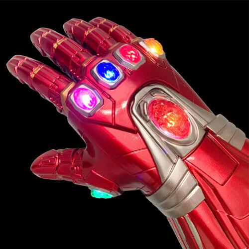 Iron Man Nano LED Gloves Avengers Endgame Infinity Gauntlet Cosplay Costume Toys - $29.79