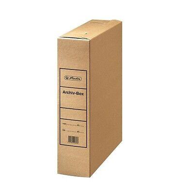 50 x Falken Archivbox DIN A4 8cm Vollpappe braun, Archiv-Schachtel, Archivboxen