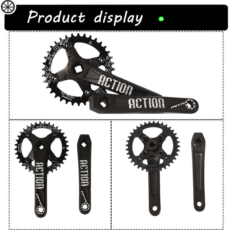 All Teeth 30-52t 104bcd Chainset Crank set Round Oval MTB Road DH Bike Chainring