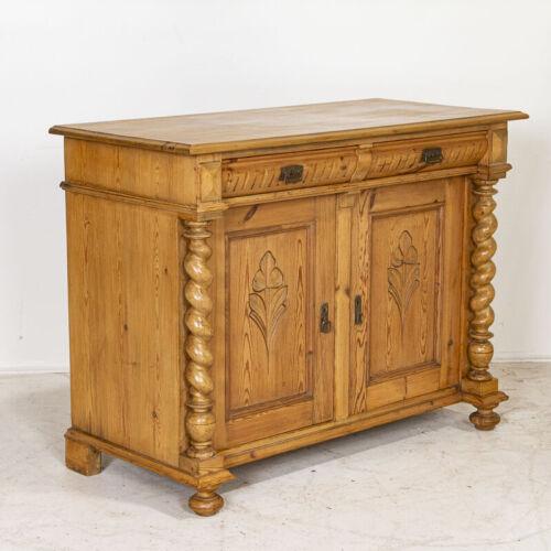 Antique Danish Pine Sideboard Cabinet