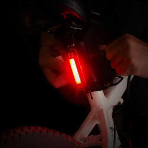 Bicycle Bike Tail Light LED USB Chargeable Mini Rear Light Night Warning Lamp