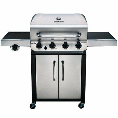 Propane Gas Grill Griddle Station Stainless Steel Outdoor Grills Summer Fry BBQ