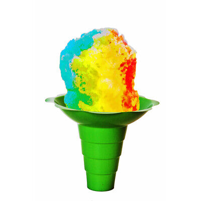 Large Shaved Ice Sno Cone Flower Cups 12 Oz 200 Count Green