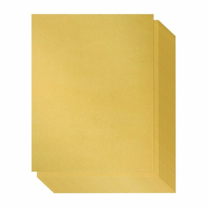 96 Pack-Gold Metallic Shimmer Paper A4 Double Sided 110g, Laser Printer Friendly