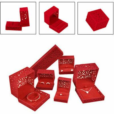 Romantic Box Pendant Bracelet Necklace Ring Case Holder Wedding Present Gifts -