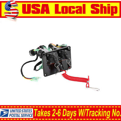 US! OEM Dual Key Ignition Twin Switch Panel For Yamaha Outboard Engine 6K1-82570