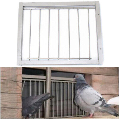 Hot Bob Wires Bars on Frame Entrance Tumbler For Racing Pigeon Loft Birds Silver