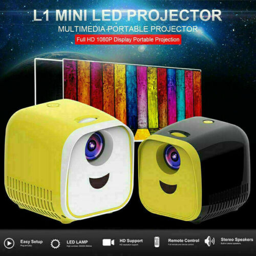 Mini Pocket LED Projector HD 1080P Home Theater Cinema USB H
