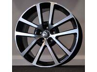 "**18"" Charlston Alloys & tyres for VW Golf MK5 MK6 MK7 Jetta Caddy Seat Leon Audi A3 etc**"