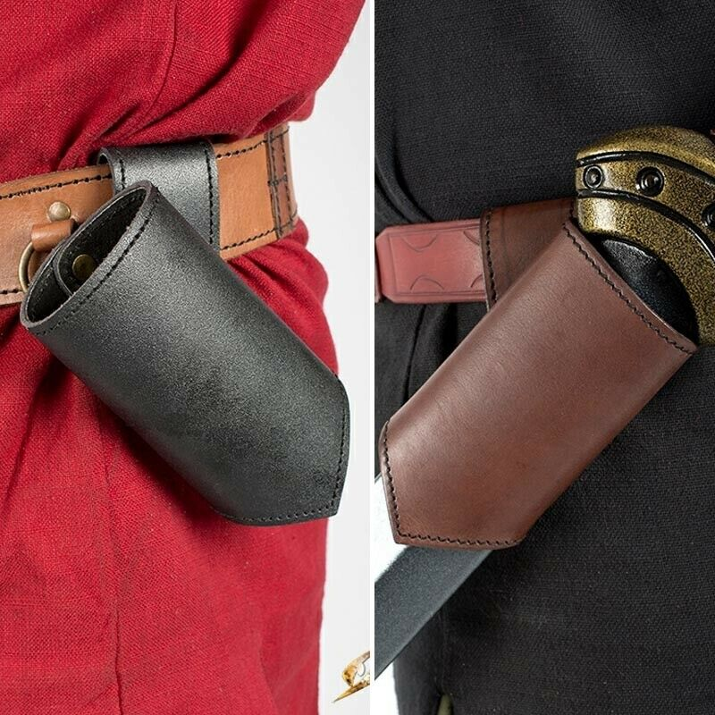 Re-enactment /& LARP Costume Leather Classic Belt Loop Sword Holder for Stage