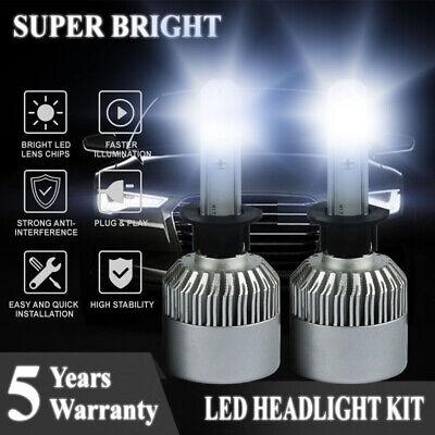 Pair H1 1500W 225000LM LED Headlight Kit High or Low Beam Bulb Xenon 6000K Power