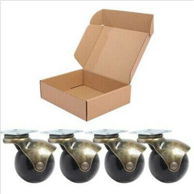4x Ball Small Casters Wheels For Sofa Furniture Ottoman Woodens Chair Hardwood