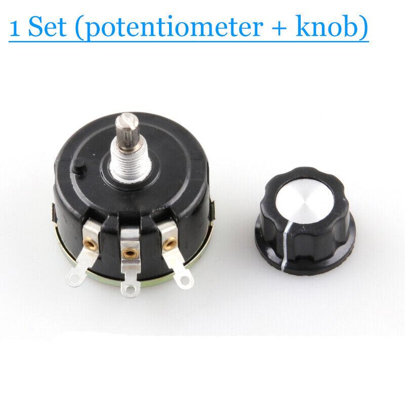 WX112 WX050 Single-turn wire wound potentiometer 5W 100Ω 2K2 4K7 10K 22k 47k