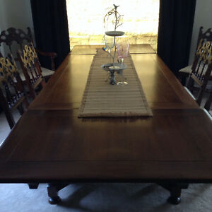 Antique Dining Room Suite and Five Chairs