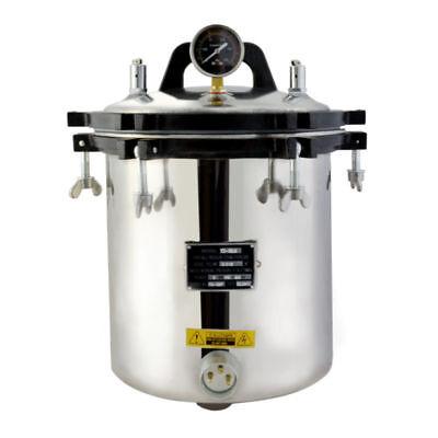 18l Steam Autoclave Sterilizer Hq Tattoo Dental Lab Equipment High Pressure