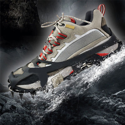 Ice Grippers Lightweight 18Teeth Walk Traction Cleats Ice Snow Grips Crampons US