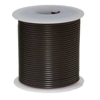 """22 AWG Gauge Stranded Hook Up Wire Black 100 ft 0.0253"""" UL1007 300 Volts"""