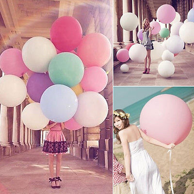 36 Inch 90cm Large Circular Wedding Party Giant Large Latex Balloon Event NE