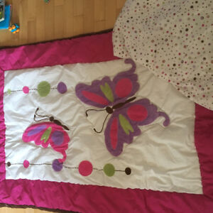 Butterfly bedding for toddler bed