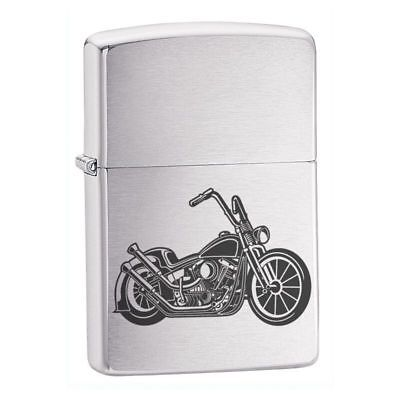 Personalised Harley Style Motorbike Zippo Lighter Smoking Gift - 2 Designs
