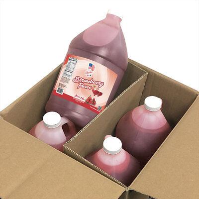 Frozen Strawberries - Strawberry Puree Margarita/Daiquiri Frozen Drink Mix | 4 Gallon Case