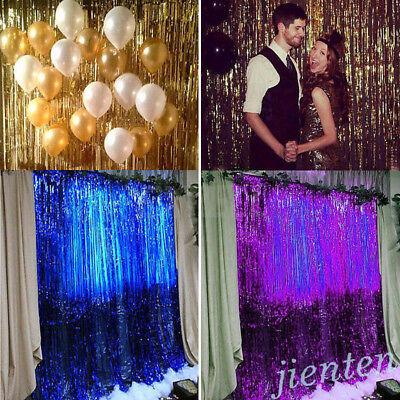 Metallic Foil Fringe Rain Tassel Curtain Decor Birthday Wedding Party Backdrop